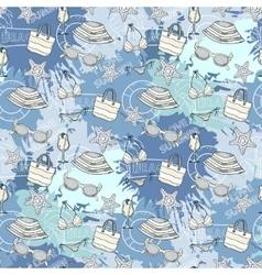 Summer blue pattern vector image