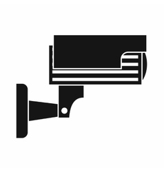 Surveillance camera icon simple style vector image