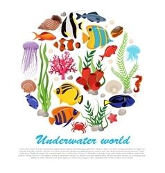 Sea Life Poster vector image