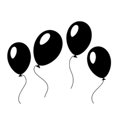 Baloons in black and white vector