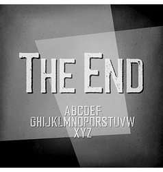End Credits Film noir styled abstract screen The vector image