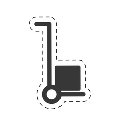 trolley cardboard box delivery cutting line vector image