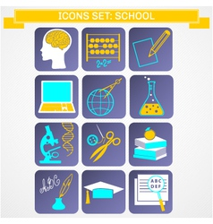 Education icons set infographics vector