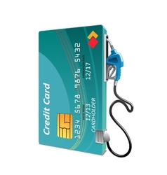 Credit card with petrol or gasoline pump vector