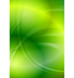 Shiny green iridescent wavy background vector