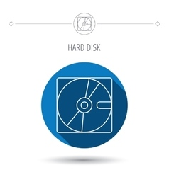 Harddisk icon hard drive storage sign vector