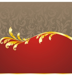 decorated golden frame vector image