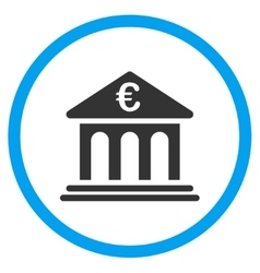 Euro Bank Rounded Icon vector image