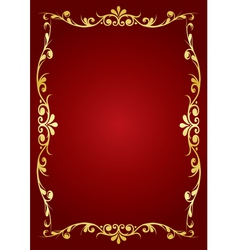 Ornamented frame vector