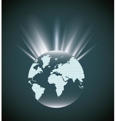 Earth sphere icon world and map design vector