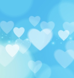 Abstract love with bokeh light on blue background vector