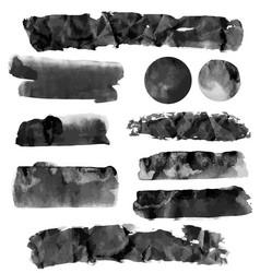 black brushstroke set vector image