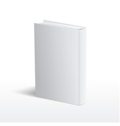 Blank vertical white book cover template vector