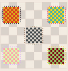Chess boards collection vector