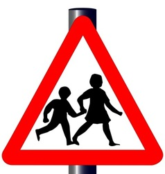 Children Traffic Sign vector image vector image