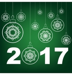 Christmas Glass Ball Winter Banner vector image vector image