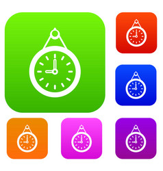 clock set collection vector image