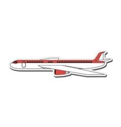 Comercial airplane icon vector