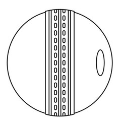 Cricket ball icon outline style vector
