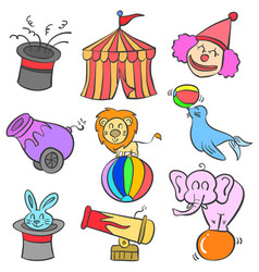 Doodle of circus colorful style vector