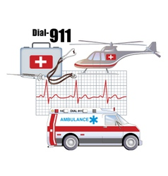 Emergency health services vector image vector image
