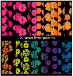 flower patterns vector image