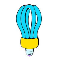 fluorescence lamp icon cartoon vector image vector image