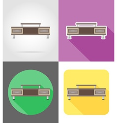 furniture flat icons 08 vector image vector image