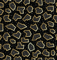Gold retro vintage 80s geometry seamless pattern vector