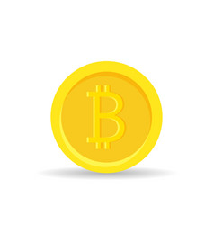 golden bitcoin digital currency isolated on white vector image vector image