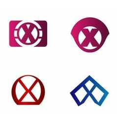 Letter X logo icon design template elements vector image