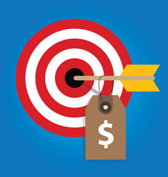 pricing strategy price tag on consumer target vector image