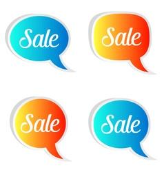 Sale speech bubbles vector