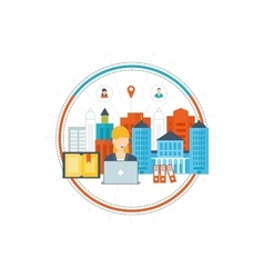 School and university building icon vector