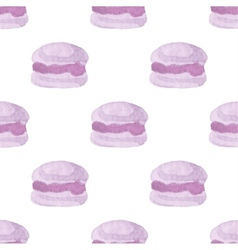 Seamless pattern with macaroons Hand-drawn vector image vector image