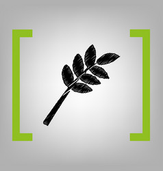 Tree branch sign black scribble icon in vector
