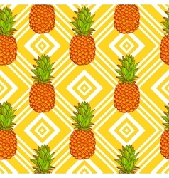 Tropical Pineapples Background vector image