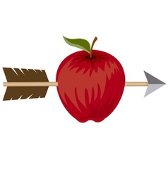 Apple and arrow Target concept vector image