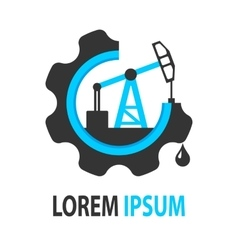 Blue oil company logo vector image