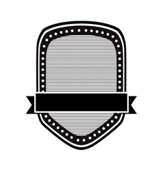 black and white emblem or label image vector image