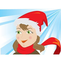 Girl ice skating vector