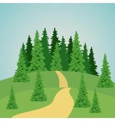 Colorful park landscape design vector