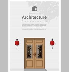 Elements of architecture front door background 6 vector image
