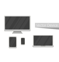 Set of electronic devices icon Flat design devices vector image