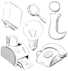 Office stuff icons set vector