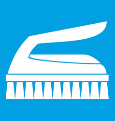 Brush for cleaning icon white vector