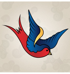 Tattoo style swallow old school vector image