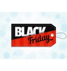 Black friday sales tag on snowflake background vector