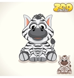 Cartoon zebra character vector