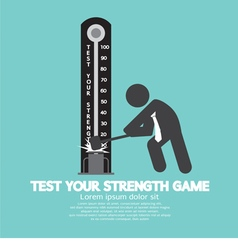 Test your strength game symbol vector